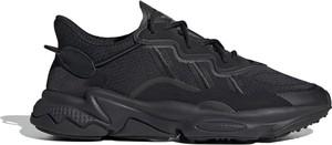 Buty sportowe Adidas ozweego ze skóry sznurowane