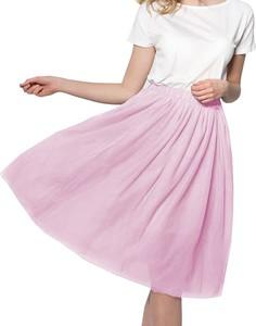 Różowa spódnica Snm midi z tiulu