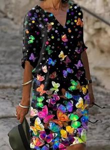 Sukienka Sandbella prosta w stylu boho