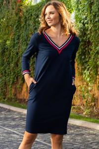 Sukienka Grandio mini z bawełny z długim rękawem