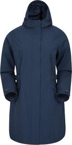 Granatowa kurtka Mountain Warehouse długa z tkaniny