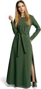Sukienka MOE z długim rękawem maxi