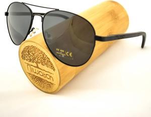 Drewniane okulary przeciwsłoneczne Niwatch Musca Black
