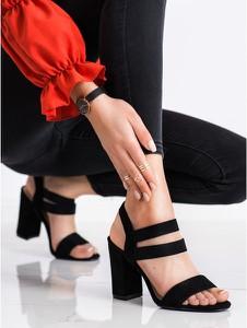 Czarne sandały EVENTO z klamrami