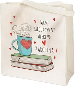 Murrano bawełniana eko torba z nadrukiem książki tr011