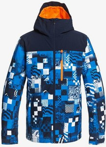 Niebieska kurtka Quiksilver w młodzieżowym stylu z nadrukiem