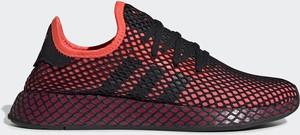 Czerwone buty sportowe Adidas Originals sznurowane