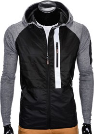 Czarna kurtka Ombre Clothing