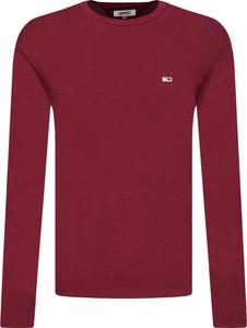 Czerwona koszulka z długim rękawem Tommy Jeans z długim rękawem
