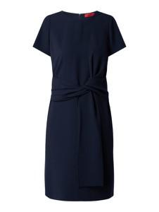Sukienka Hugo Boss z okrągłym dekoltem prosta mini