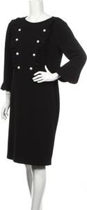 Czarna sukienka James Lakeland midi z długim rękawem