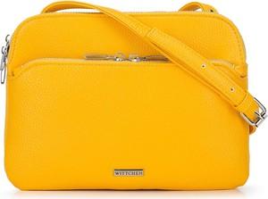 Żółta torebka Wittchen średnia na ramię matowa