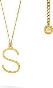 GIORRE Srebrny naszyjnik z literką, alfabet, srebro 925 : Kolor pokrycia srebra - Pokrycie Żółtym 18K Złotem, Litera - S