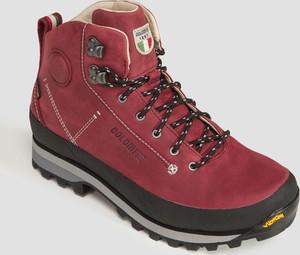 Czerwone buty trekkingowe Dolomite ze skóry