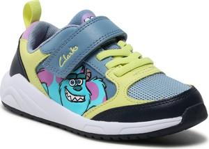 Buty sportowe dziecięce Clarks sznurowane dla dziewczynek
