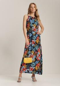 Granatowa sukienka Renee maxi bez rękawów w stylu boho