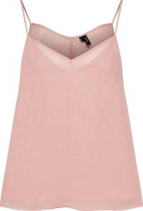 Różowa bluzka Vero Moda z szyfonu