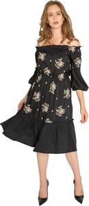Czarna sukienka Milena Płatek hiszpanka