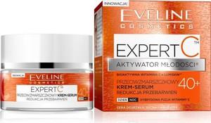Eveline Expert C 40+ krem-serum do twarzy przeciwzmarszczkowy redukcja przebarwień na dzień i noc 50 ml