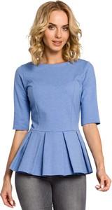 Błękitna bluzka MOE z krótkim rękawem