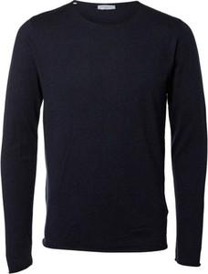 Niebieski sweter Selected Homme w stylu casual z bawełny