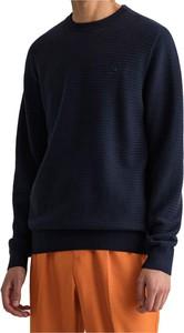 Niebieski sweter Gant w stylu casual z okrągłym dekoltem z wełny
