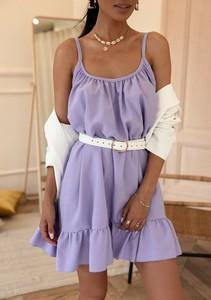 Sukienka Latika z lnu na ramiączkach