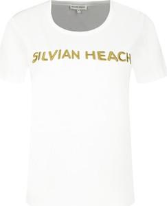 T-shirt Silvian Heach z okrągłym dekoltem z krótkim rękawem
