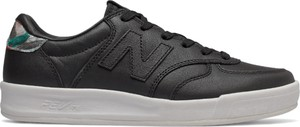 Czarne buty sportowe New Balance z płaską podeszwą ze skóry