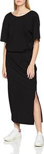 Czarna sukienka amazon.de w stylu casual prosta z okrągłym dekoltem
