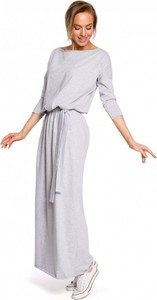 Sukienka MOE z bawełny maxi w stylu casual