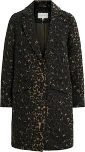 Brązowy płaszcz Vila z wełny