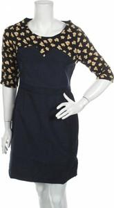 Sukienka Laga mini z okrągłym dekoltem z długim rękawem