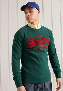 Zielona bluza Superdry w młodzieżowym stylu z bawełny