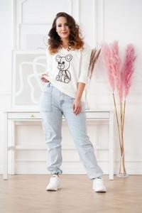 Jeansy Sklep XL-ka z szyfonu w stylu casual