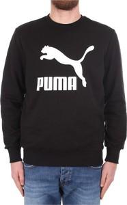 Sweter Puma z okrągłym dekoltem w młodzieżowym stylu
