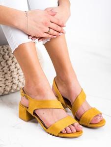 Żółte sandały Czasnabuty z zamszu