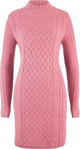 Różowa sukienka bonprix bpc bonprix collection midi