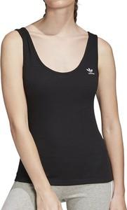 Top Adidas z okrągłym dekoltem w sportowym stylu z bawełny