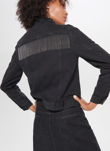 Kurtka Mohito w stylu boho krótka z jeansu