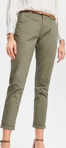 Zielone spodnie Reserved w stylu casual