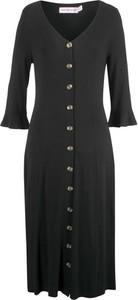 9c38fe183a Czarna sukienka bonprix bpc bonprix collection midi w stylu boho