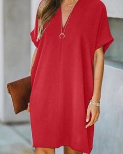 Sukienka Kendallme mini oversize z dekoltem w kształcie litery v