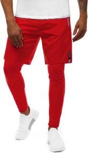 Czerwone spodnie Ozonee z bawełny