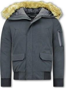 Czarny płaszcz męski ENOS z bawełny