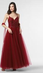 Sukienka Mascara maxi z dekoltem w kształcie litery v z tiulu