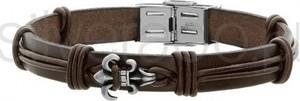 Silverado stylowa męska bransoletka ze skóry naturalnej - 77-ba521a