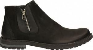 Czarne buty zimowe Darbut z nubuku