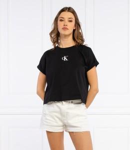 Czarny t-shirt Calvin Klein z bawełny