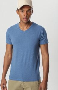 Niebieski t-shirt born2be